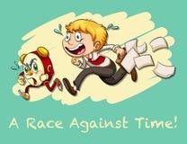与时间的成语赛跑 向量例证