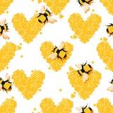 与昆虫和蜂蜜的自然本底 背景甜点 库存例证