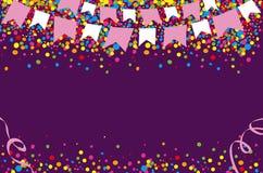 与明亮和五颜六色的小点的愉快的6月节日 库存照片