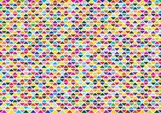 与明亮的三角的抽象背景 库存图片
