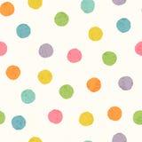 与明亮的五颜六色的手拉的小点的抽象无缝的样式 皇族释放例证
