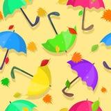 与明亮的伞的样式 库存例证