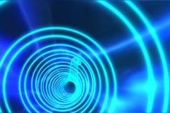 与明亮的光的蓝色螺旋 免版税库存照片