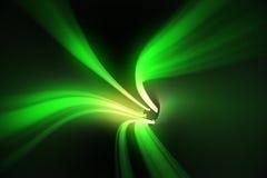 与明亮的光的绿色漩涡 免版税库存照片