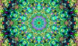 与明亮的形状的五颜六色的坛场 向量例证