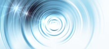 与明亮的梯度和迷离作用的高科技蓝色背景 库存图片