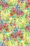 与明亮的花的无缝的ditsy花卉样式 免版税库存图片