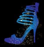鞋子剪影 向量例证
