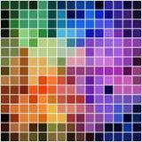 与明亮的颜色的彩虹方形的马赛克 免版税库存照片