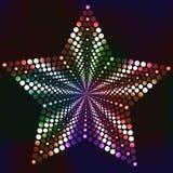 与明亮的颜色的被加点的光滑的星 免版税库存图片