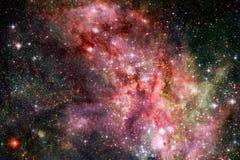 与星云、stardust和明亮的星的宇宙星系背景 美国航空航天局装备的这个图象的元素 库存照片