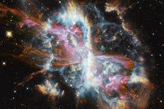 与星云、stardust和明亮的星的美好的星系背景 美国航空航天局装备的这个图象的元素 库存照片