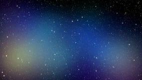 与星云的夜空背景 免版税库存照片
