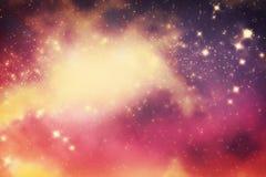 与星和幻想宇宙空间的星系 免版税库存照片