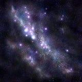 与星和starfield,星云的抽象空间背景 免版税图库摄影