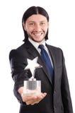 与星奖的商人 免版税库存照片