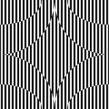 与星形图,黑白几何背景的抽象无缝的样式 免版税库存照片