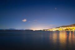 与星形的亚得里亚海晚上 免版税库存图片