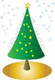 与星形的圣诞树 免版税库存图片