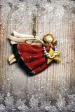 与星形的圣诞节天使 库存照片