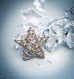 与星形的圣诞节构成 库存照片