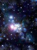 与星形的天空 免版税库存照片
