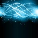 与星形的抽象波动图式 库存例证