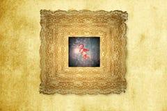 与星形的老看板卡圣诞节天使 库存图片