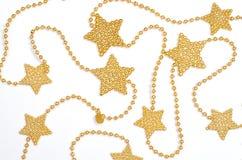 与星形的金黄链子 库存图片