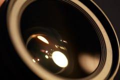 与星期日反映的照片lense。 免版税库存照片