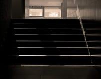 与星期日射线的台阶 免版税图库摄影
