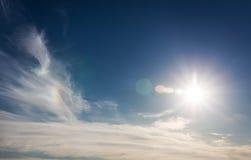 与星期日的蓝天。 免版税库存图片