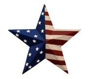 与星条旗的装饰品 图库摄影