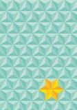 与星的三角背景 免版税库存照片