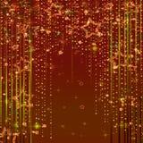 与星的不可思议的神仙的抽象发光的背景 免版税库存图片