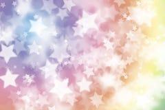 与星的五颜六色的圣诞节背景 免版税库存图片