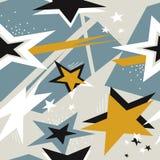 与星的五颜六色的无缝的样式 库存例证