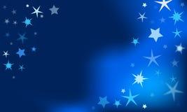 与星的冬天背景 免版税库存照片
