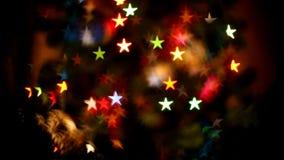 与星的发光的轻的背景 影视素材