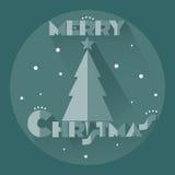 与星的圣诞树 免版税库存照片