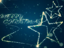 与星的圣诞节背景 图库摄影