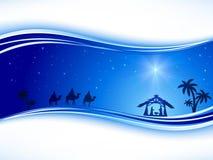与星的圣诞节背景 免版税库存照片