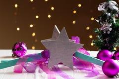 与星的圣诞节装饰 美好的圣诞节例证担任主角向量 库存照片