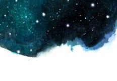 与星的夜空背景 与空间的宇宙布局文本的 向量例证
