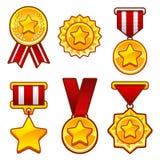 与星的奖牌 库存图片