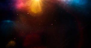 与星的宇宙与rainbown光 免版税库存照片