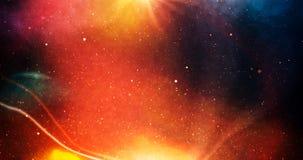 与星的宇宙和深深五颜六色在太阳附近 库存照片