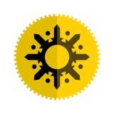 与星的平的象设计在黄色和金黄颜色被隔绝在白色 图库摄影