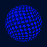 与星的抽象传染媒介球形 库存照片