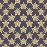 与星的抽象几何无缝的样式 图库摄影